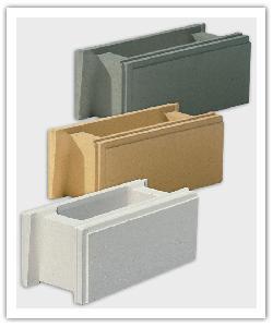 éléments de muret Lisse - Blanc cassé, Ton Pierre et Gris - en pierre reconstituée
