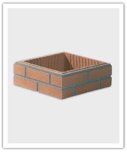 Brick finish pillar elements - in reconstructed stone