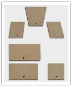 Omlijstingsgarnituur elementen - zandkleur - in Namaak Natuursteen