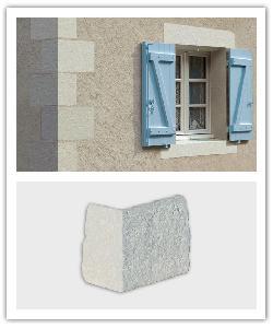 Esquinas de Fachada àngulo 41 Tradiciòn - blanco - in piedra artificial