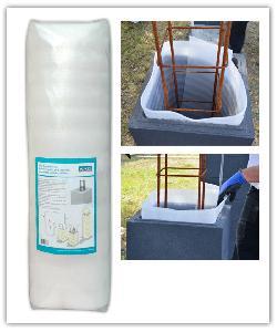 Film compressible anti-fissuration Weser pour pose de pilier de clôture