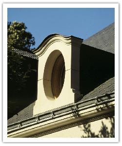 Lucarne Ovale - ton pierre - en pierre reconstituée