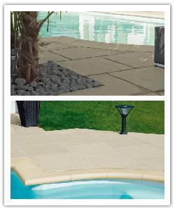 Margelles de piscine Fouras Sable et dalles de piscine Bergerac Champagne- en pierre reconstituée