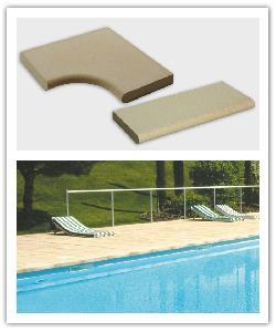 Zwembadboordsteen Platt P22 - Steen uit Lot - in Namaak Natuursteen