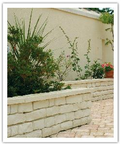 Garrigue drystone walling - champagne - in reconstructed stone