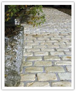 Pavés de terrasse Chinon - champagne - en pierre reconstituée 3