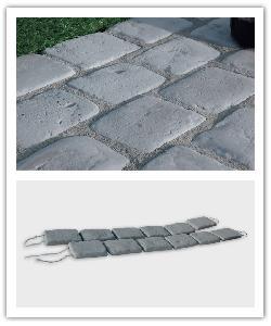 Pavés de terrasse Chinon - gris - en pierre reconstituée