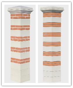 Pilier Brique et Pierre joints gris  ou joints blanc PBRIQPI 39 CPL