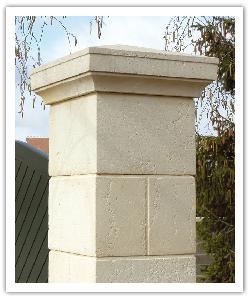 Pilier de clôture Amboise - Champagne - en pierre reconstituée - 2
