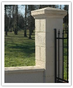 Pilier de clôture Amboise - Champagne - en pierre reconstituée - 3