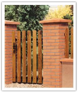 Brick finish pillar - brick - in reconstructed stone