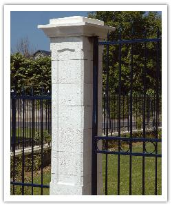 Pilier de clôture Chambord - Blanc - en pierre reconstituée - 3