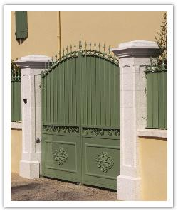 Pilier de clôture Chambord - Blanc - en pierre reconstituée - 4