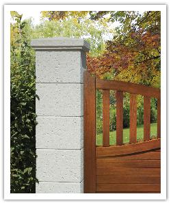 Chaumont fence pillar - champagne - in reconstructed stone