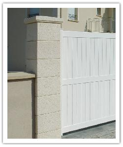 Pilier de clôture Chaumont - Champagne - en pierre reconstituée