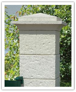Cheverny fence pillar - champagne - in reconstructed stone