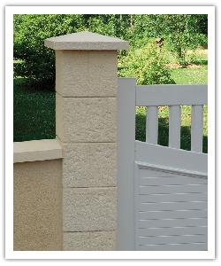 Cheverny fence pillar whitout capital - champagne - in reconstructed stone