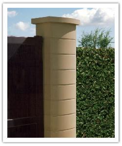 Pilier de clôture Ovalis - Ton pierre - en pierre reconstituée