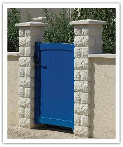 Split finish pillar PB30 - off-white - in reconstructed stone