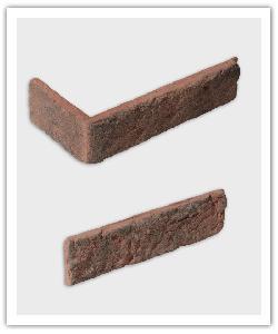 Plaquetas y esquinas Interbrick Tradiciòn IBT 34 - Rojo - in piedra artificial