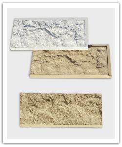 Plaquetas Abollonado - blanco y beige - in piedra artifical