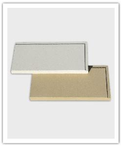 Plaquetas Liso - blanco y beige - in piedra artifical