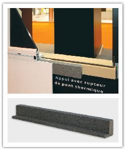Rupteur de pont thermique pour appui de fenêtre Weser