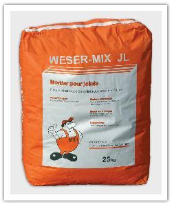 zak van 25 kg van de voegmortel Weser-Mix JL