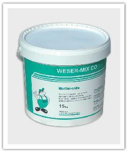 emmer van 15 kg van de mortellijm Weser-Mix CO