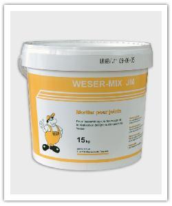 emmer van 15 kg van de mortel voor samenvoeging Weser-Mix JM