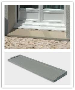 Seuils de porte Classiques - ton pierre et gris - en pierre reconstituée