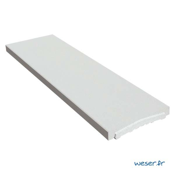 Chaperon OPTIPOSE® Plat 1 mètre WESER - largeur 30cm - Coloris Blanc cassé