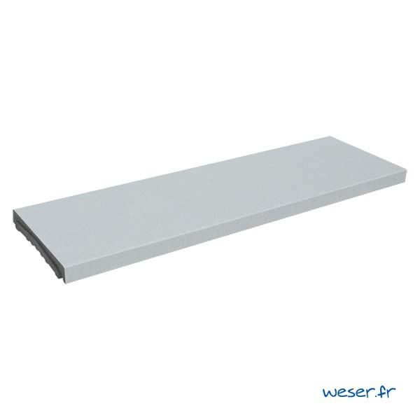 Chaperon OPTIPOSE® Plat 1 mètre WESER - largeur 30cm - Coloris Gris
