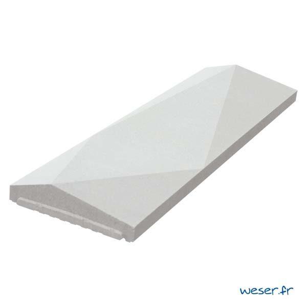 Chaperon OPTIPOSE® Trigone 1 mètre WESER - largeur 30cm - Coloris Blanc cassé