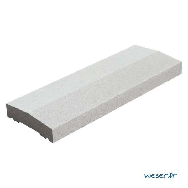 Chaperon Classique Weser 2 pentes - largeur 18 cm - Coloris Blanc cassé