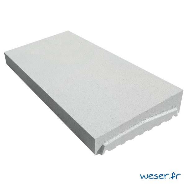 Chaperon OPTIPOSE® 1 pente WESER - Coloris Blanc cassé