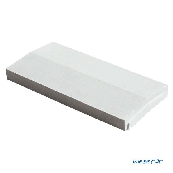 Chaperon OPTIPOSE® 2 pentes Weser - largeur 23 cm- coloris Blanc cassé