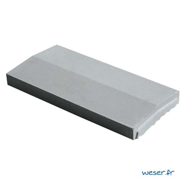 Chaperon OPTIPOSE® 2 pentes Weser - largeur 23 cm- coloris Gris