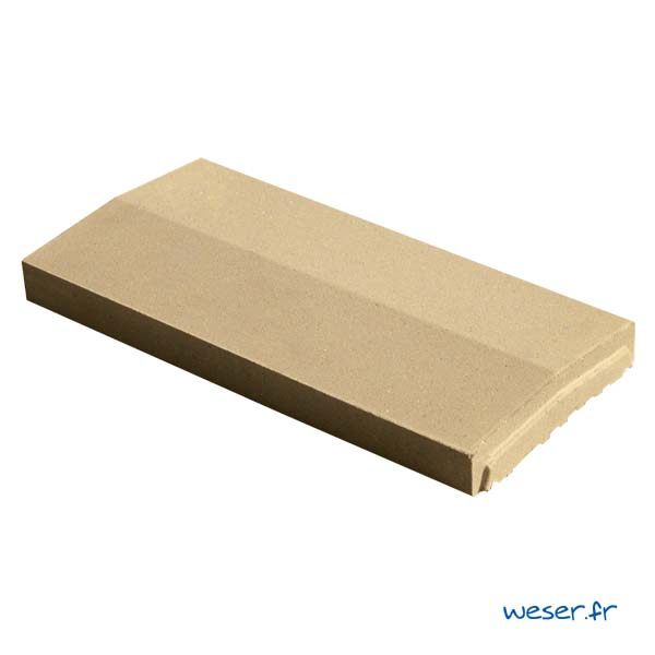 Chaperon OPTIPOSE® 2 pentes Weser - largeur 23 cm- coloris Ton pierre