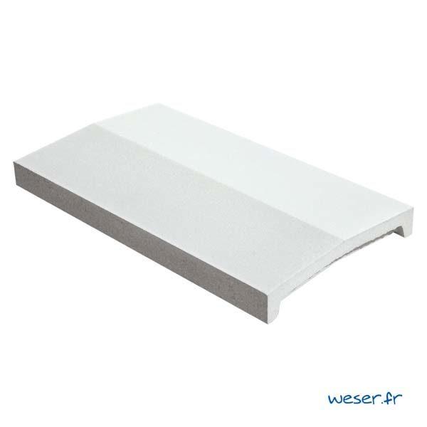 Chaperon OPTIPOSE® 2 pentes Weser - largeur 28 cm- coloris Blanc cassé