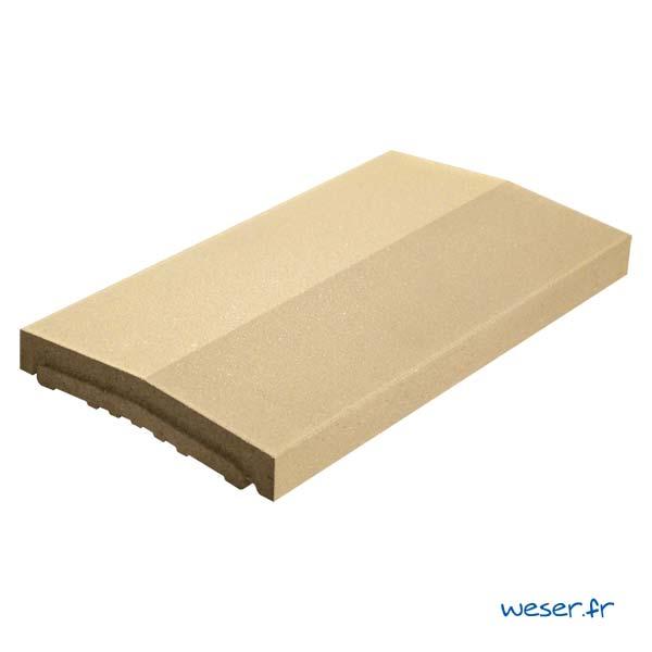 Chaperon OPTIPOSE® 2 pentes Weser - largeur 33 cm- coloris Ton pierre