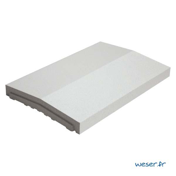 Chaperon OPTIPOSE® 2 pentes Weser - largeur 33 cm- coloris Blanc cassé