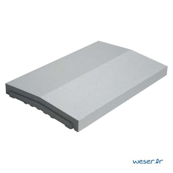 Chaperon OPTIPOSE® 2 pentes Weser - largeur 33 cm- coloris Gris