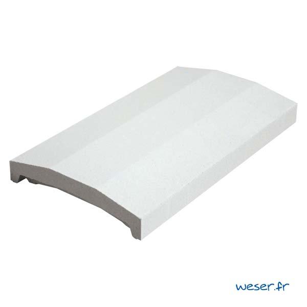 Chaperon OPTIPOSE® spécial pose de Platine WESER - largeur 28cm- Coloris Blanc cassé