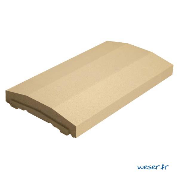 Chaperon OPTIPOSE® spécial pose de Platine WESER - largeur 28cm- Coloris Ton pierre