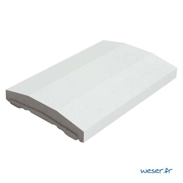 Chaperon OPTIPOSE® spécial pose de Platine WESER - largeur 33cm- Coloris Blanc cassé