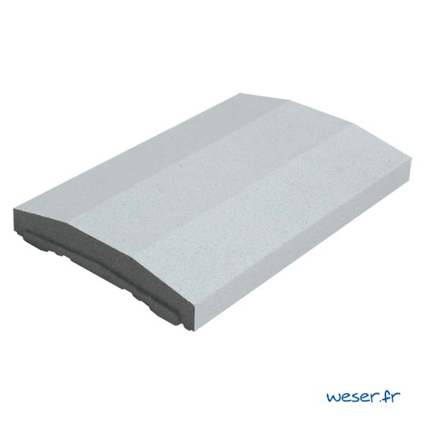 Chaperon OPTIPOSE® spécial pose de Platine WESER - largeur 33cm- Coloris Gris