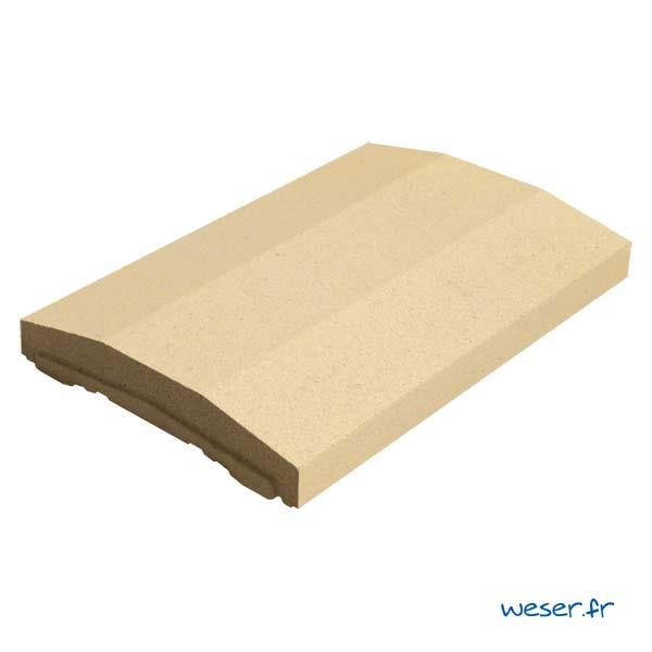 Chaperon OPTIPOSE® spécial pose de Platine WESER - largeur 33cm- Coloris Ton pierre