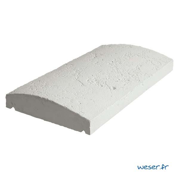 Chaperon Tradition Vieille pierre Arrondi - largeur 28 cm - Coloris Blanc Tradition