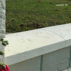 Couvre-mur Vieille pierre Arrondi - largeur 28 cm - Coloris Blanc Tradition